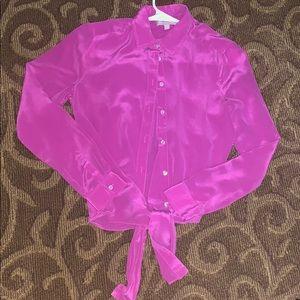 Pink banana republic silk top